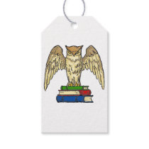 Owl and books gift tags