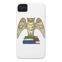Owl and Books iPhone 4 Cover