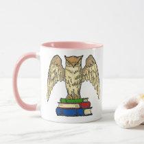 Owl and Books Mug