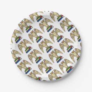Owl and Books Paper Plate
