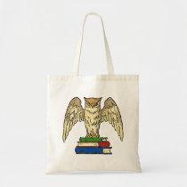 Owl and Books Tote Bag