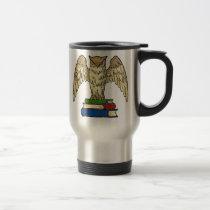 Owl and Books Travel Mug