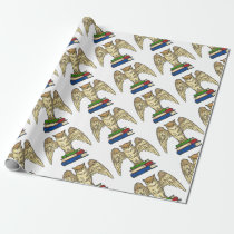 Owl and Books Wrapping Paper