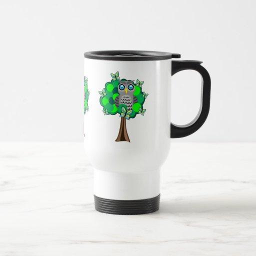 Owl and Butterflies Coffee Mug