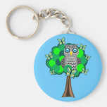 Owl and Butterflies Key Chain
