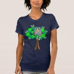 Owl and Butterflies T Shirt
