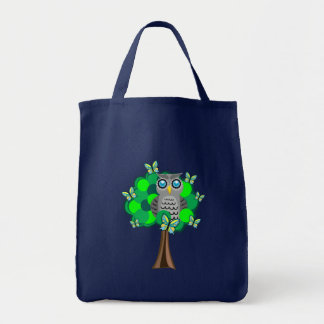 Owl and Butterflies Tote Bag