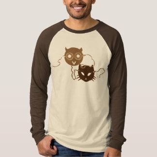 Owl and Cat Masks T-Shirt