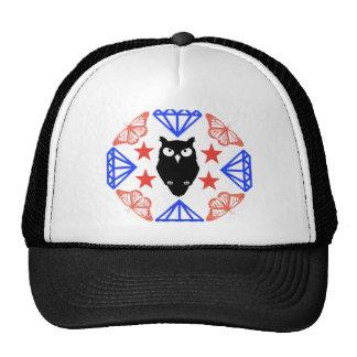 Owl and Diamonds Trucker Hat