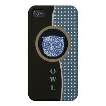 owl and dots cover for iPhone 4