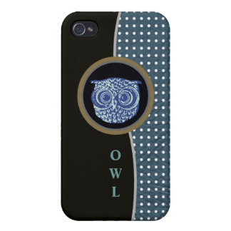 owl and dots iPhone 4 case