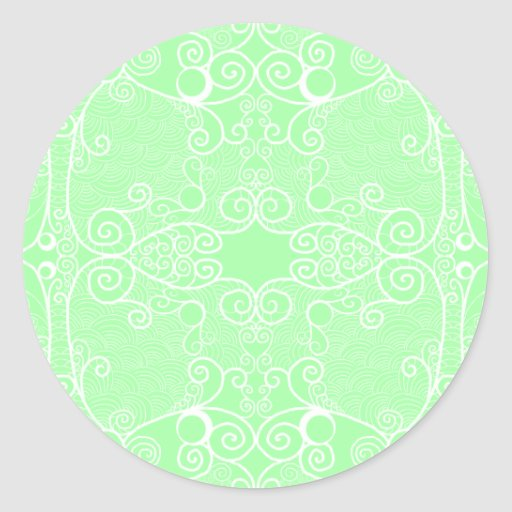 Owl and Firefly Lace Classic Round Sticker
