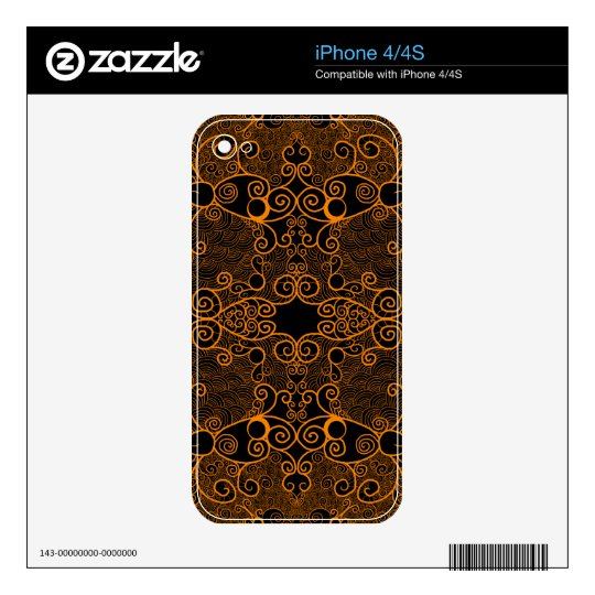 Owl and Firefly Lace Decal For iPhone 4