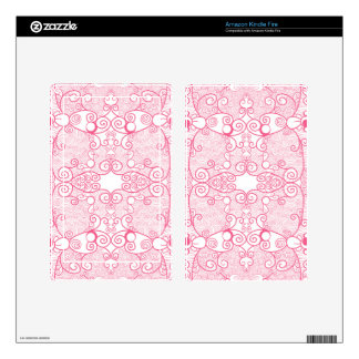 Owl and Firefly Lace Decals For Kindle Fire