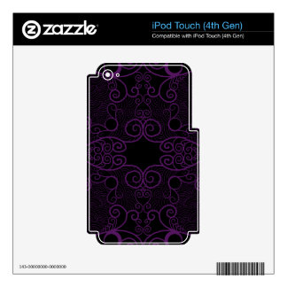 Owl and Firefly Lace iPod Touch 4G Skin