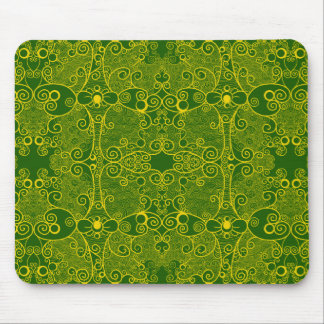 Owl and Firefly Lace Mouse Pad