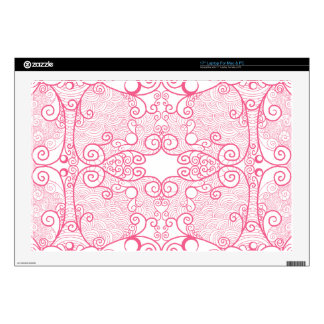 "Owl and Firefly Lace Skin For 17"" Laptop"
