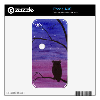Owl and Full Moon iPhone 4S Decal