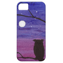 Owl and Full Moon iPhone SE/5/5s Case