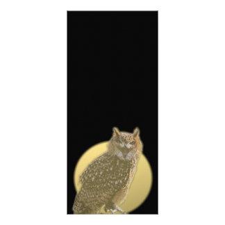Owl and Full Moon Rack Card