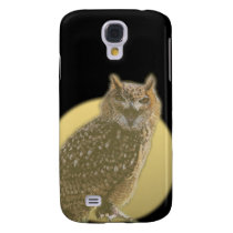 Owl and Full Moon Samsung Galaxy S4 Case