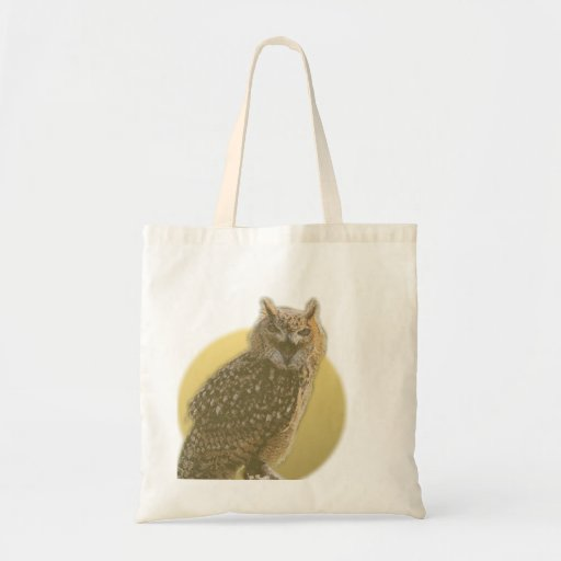 Owl and Full Moon Tote Bag