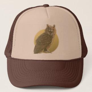 Owl and Full Moon Trucker Hat