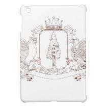 Owl and Hawk Redwood Crown Crest Drawing iPad Mini Case