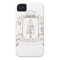 Owl and Hawk Redwood Crown Crest Drawing iPhone 4 Case