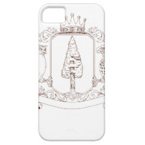 Owl and Hawk Redwood Crown Crest Drawing iPhone SE/5/5s Case