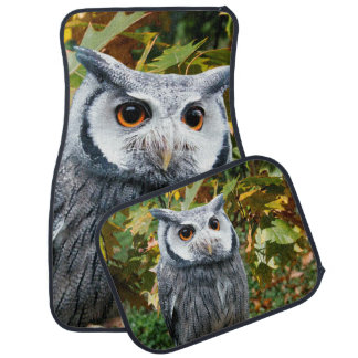 Owl and Leaves Car Mat