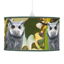 Owl and Leaves Hanging Lamp
