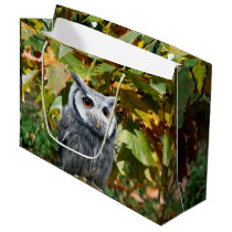 Owl and Leaves Large Gift Bag