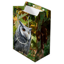 Owl and Leaves Medium Gift Bag