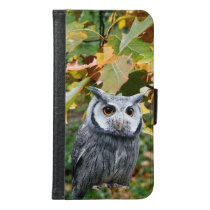 Owl and Leaves Wallet Phone Case For Samsung Galaxy S6