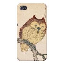 Owl and magnolia – Kobushi ni mimizuku Cover For iPhone 4