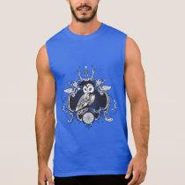 Owl and mirror sleeveless shirt
