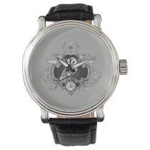 Owl and mirror wristwatch