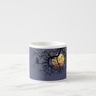 Owl and Moon Espresso Mug 6 Oz Ceramic Espresso Cup