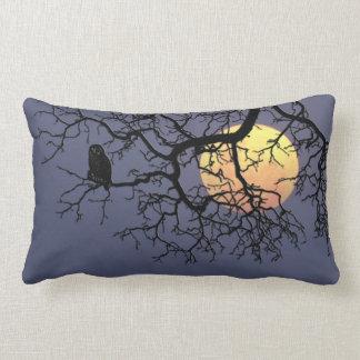 Owl and Moon Grade A Cotton Throw Pillow Lumber