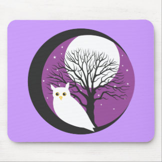OWL AND MOON MOUSE PAD