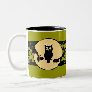 Owl and Moon Mug