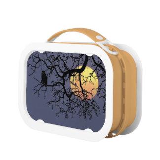 Owl and Moon Orange yubo Lunch Box