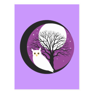 OWL AND MOON POSTCARDS