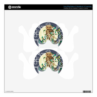 Owl and Moon PS3 Controller Skin
