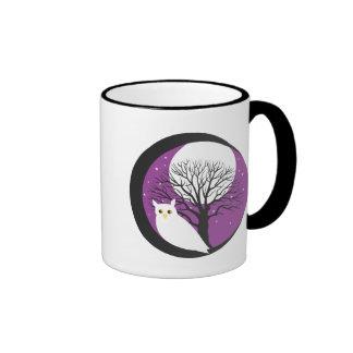 OWL AND MOON RINGER COFFEE MUG