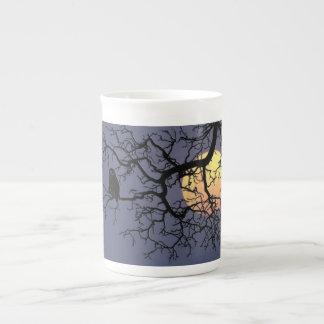 Owl and Moon Specialty Bone China Mug Tea Cup