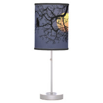 Owl and Moon Table Lamp