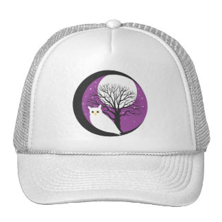OWL AND MOON TRUCKER HAT