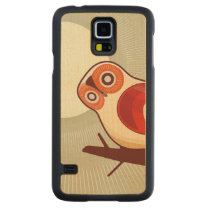 Owl And Moonlight Carved Maple Galaxy S5 Case